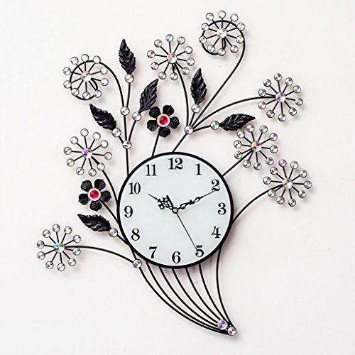 Wandklok, bloemen, strijkijzer, creatief, kwarts, decoratie, slaapkamer, mute-tafel, hangend