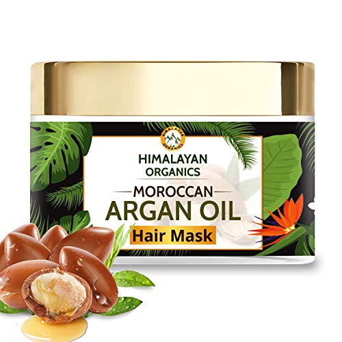 Himalayan Organics Moroccan Argan Oil Hair Mask with Bhringraj | No Parabens & Sulphate - 200ml