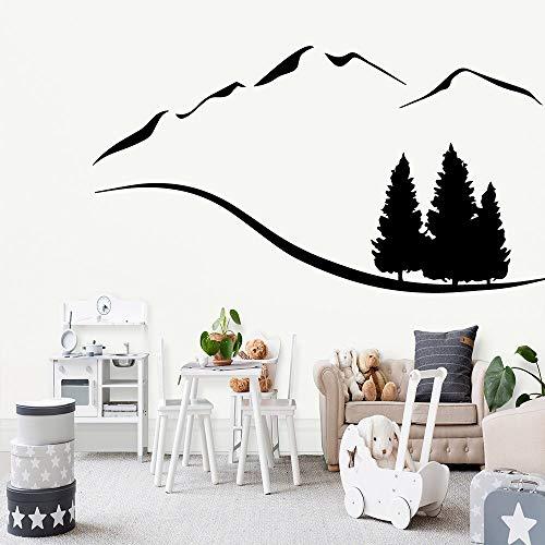 wZUN Hermosos paisajes Pegatinas de Pared habitación de los niños Sala de Estar Autoadhesivo Papel Tapiz artístico decoración del hogar calcomanía Pegatinas Creativas 42X78cm