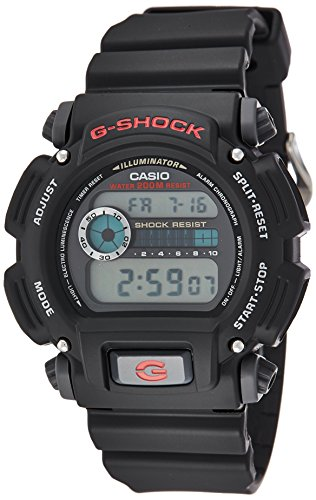 Casio Men's G-Shock Quartz Watch with Resin Strap, Black, 25 (Model: DW9052-1V)