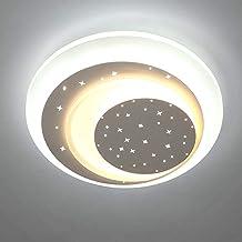 云TAOBeautiful Lighting City/Modern Round Ceiling Lights, Minimalist Children and Rooms Eye Protection Lighting Creativity ...