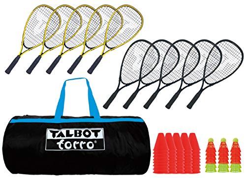 Talbot-Torro Speed-Badminton Schulset, Set für 10 Spieler, im Sportsbag, 490100