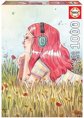 Educa Exclusive Series Esther Gili Junio. Puzzle de 1000 Piezas. Ref. 19030, Multicolor (Juguete)