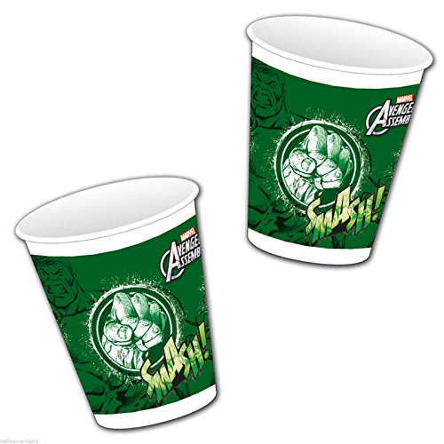 Avengers Assemble Teens The Incredible Hulk Plastic Party Cups x 8 by The Avengers