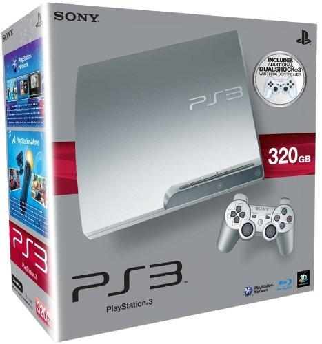 PlayStation 3 - Konsole Slim Silber 320GB mit 2 DualShock 3 Wireless Controllern