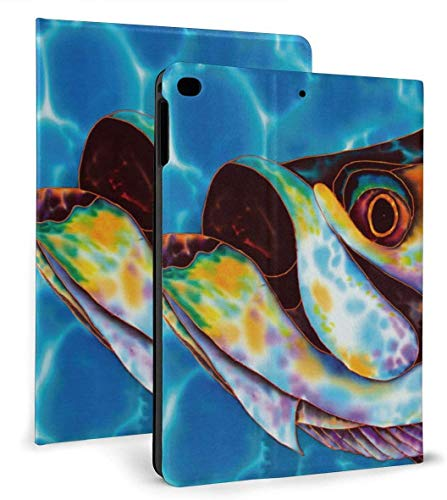 Danger Ocean Advanture PU Leather Smart Case Auto Sleep/Wake Feature for iPad Air 1/2 9.7' Case-Awesome Sea Animal Fish-iPad air1/2 9.7'