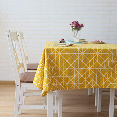 YOUYUANF tablecloth wipe cleanLinen look tablecloths rectangular and various sizes of tablecloths-antifouling tablecloths140x180cm