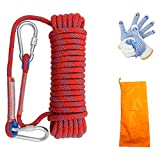 NOZOMI 10M Climbing Rope, Multifunctional Cord 10mm Thick Safety Rope for Home Fire