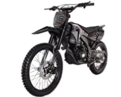 250cc APOLLO Dirt Bike With 5 Speed Manual Transmission CARB Approved for California advanced braking power, the large disc brake allows you to slow down or stop quick and steady. With high-performance air shock front suspension, you are in for a mor...