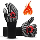 Chrider BBQ Gloves 1472°F Extreme Heat Resistant Gloves Grilling Gloves, 13' Silicone Non-Slip BBQ Mitt for Grilling, BBQ Smoker, Barbecue Gloves, Kitchen Cooking, Oven Mitts - 1 Pair