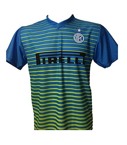 DND DI D'ANDOLFO CIRO Maglia Calcio Inter Away Sprite Verde Azzurra Neutra Senza Stampa sul Retro Replica Autorizzata 2016-2017 Taglie da Bambino (6 Anni)