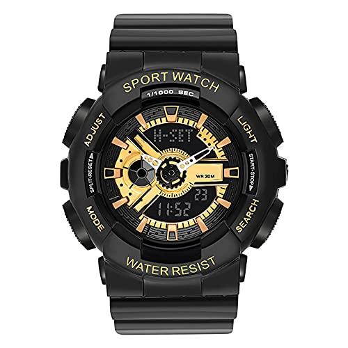 WTYU Relojes Pulsera, Relojes De Pareja Impermeable para Exteriores Deportivos Digitales, con Cronómetro, Semana, Fecha, a Prueba De Golpes a Prueba De Golpes Women