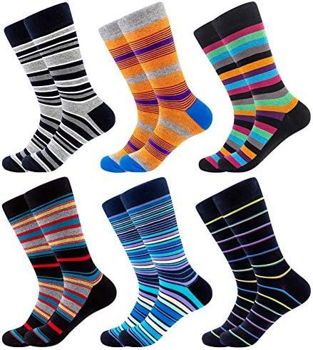 Bonangel Men s Fun Dress Socks Colorful Funny Novelty Crew Socks Pack Art Socks C a Colorful product image