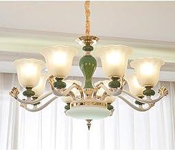 Ceiling Lighting, Chandelier,Ceramics Pendant Ceiling Light,Glass Chandelier,for Kitchen Island Dining Table Hallway Bedro...