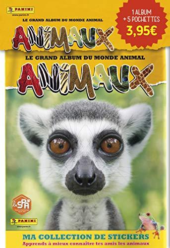 Panini France SA Animali 2020 – Confezione di avviamento per iniziare la collezione – un album + 5 buste