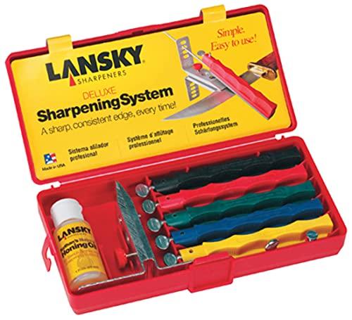 Lansky Sharpeners Kit de Afilado Lanksy Deluxe con 5 Piedras