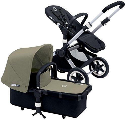 Best Price Bugaboo Buffalo Complete Stroller - 2015 - Dark Khaki - Aluminum/Black
