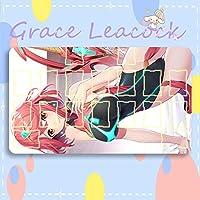 GraceLeacock カードゲームプレイマット 遊戯王 プレイマット ゼノブレイド 2 ホムラ アニメグッズ TCG万能 収納ケース付き アニメ 萌え カード枠あり (60cm * 35cm * 0.3cm)