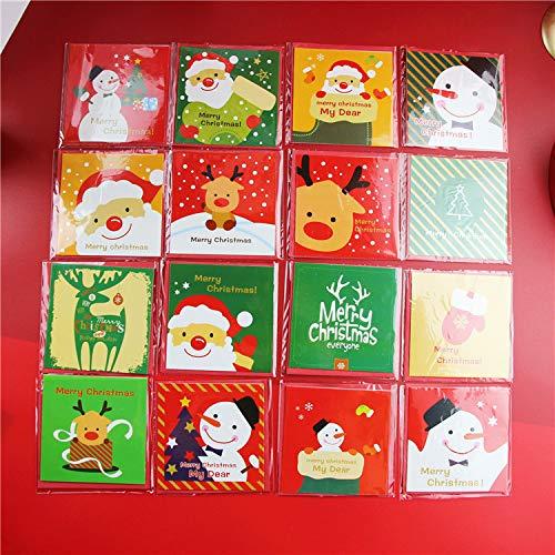 【BEAUTY PLAYER】クリスマスカード 16枚 グリーティングカード クリスマス 可愛い カートゥーン かわいい 16種類のデザイン 若者人気 子供 子供へのクリスマスカード 若者へのクリスマスカード ミニクリスマスカード 8.5X8.5cm