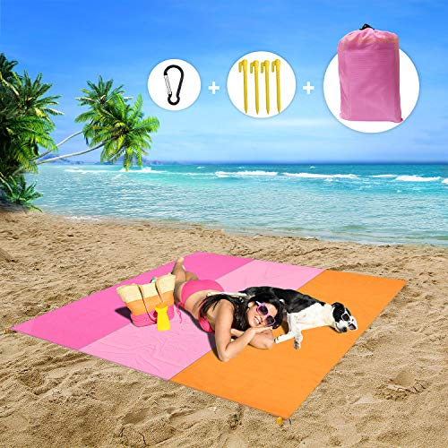 MMTX Impermeable Alfombras de Playa, Portáti lLigera Manta Picnic Manta Playa Toalla Playa Actividad Camping Accesorios Aplicar Picnic Campaña Jardín Parque Piscina(210x200cm)