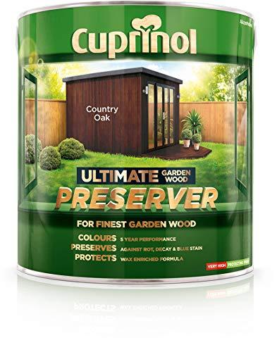 Cuprinol CUPGWPRECO4L 4L Ultimate Garden Wood Preserver - Country Oak