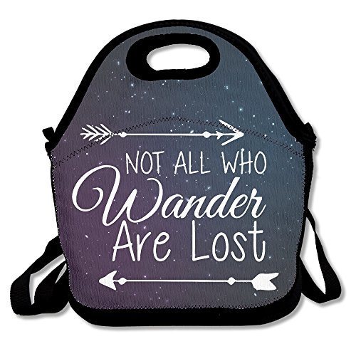 Not All Who Wander Are Lost Arrow Lunch Bag Lunch Tote