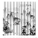 PERFECTPOT Cortina Opaca Paisaje Paisaje Cortinas de Salon con Ganchos Termicas Reduccion Ruido para Ventana Dormitorio Habitacion Oficina Cocina Decoración 140x160cm