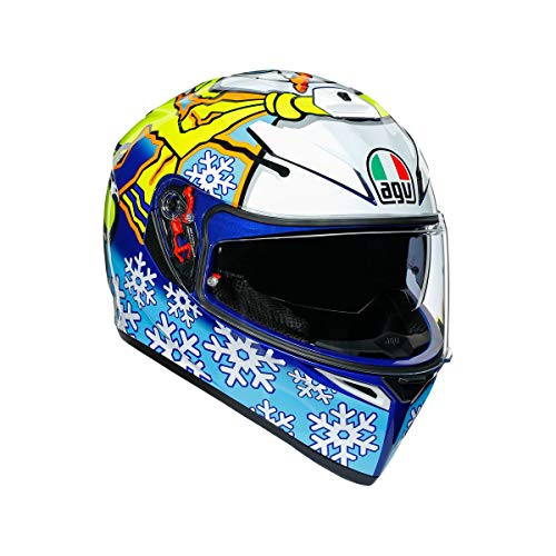 AGV K3 SV Winter Test Adult Street Motorcycle Helmet - White/X-Large