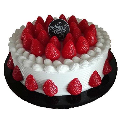 [jiroo] ホールケーキ イチゴ 生クリーム ホール ケーキ デコレーションケーキ ディスプレイ 本物 そっくり 食品サンプル 25cm
