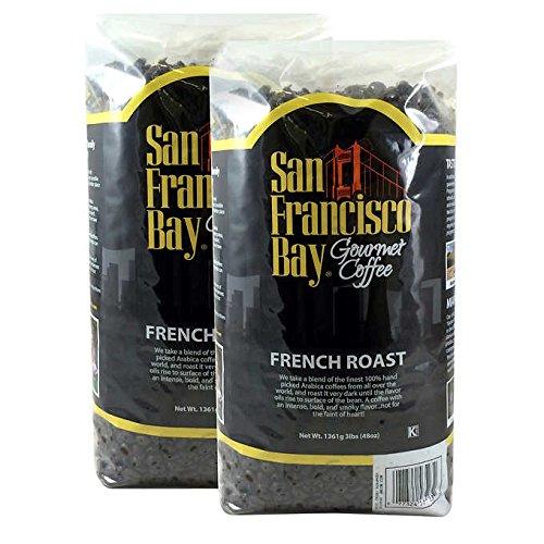 San Francisco Bay French Roast Fresh Whole Bean Coffee-3 Lbs (2 Pack)