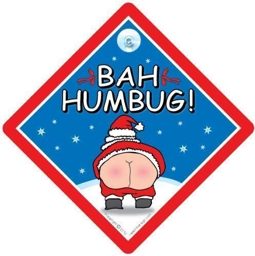 Bah Humbug voiture Noël Bah Humbug Sign Plaque avec inscription «de Noël, Noël, Noël Plaque humoristique avec inscription \