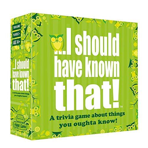 EUS Juegos De Sociedad Adultos Que Debería Haber Sabido Que Juego De Preguntas Y Juegos De Cartas Adolescente Cubierta Estrategia Interactiva Juego De Mesa para Familias, Grupos