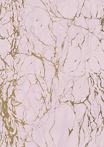 Marmor Rosa Geschenkpapier - Breite 30cm - 50m lang - K602013-1-30cm-50Mtr