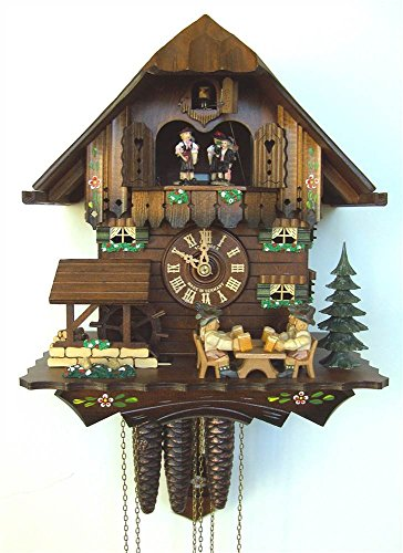 12' Cuckoo Clock with 4 Moving Beer Drinkers