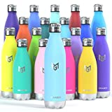 MIKAMEE Botella de Agua Acero Inoxidable 350/500/650/750ml | Aislamiento de Vacío de Doble Pared airBottle | sin bpa Botella termica | Mantiene 24h frías/12h Calientes | para Niños, Deporte, Oficina