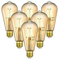 💡 [RETRO STYLE]- Ähnlich wie die klassische Glühlampe, mit bernsteinfarbenem Goldglas und klassischen Glühfäden, verleiht die LED-Birne Ihrem Raum einen eleganten und antiken Gefühl, egal ob Sie ein- oder ausgeschaltet sind. Die Birne ist ideal, um d...