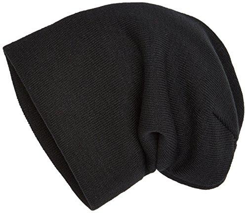 MSTRDS Bonnet Unisexe Basic Flap Version Longue. Taille Unique Noir