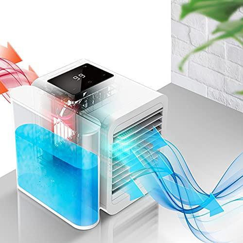Crtkoiwa Air Cooler Aire acondicionado portátil Espacio personal Enfriador de aire Ventilador de escritorio, Mini enfriador evaporativo.