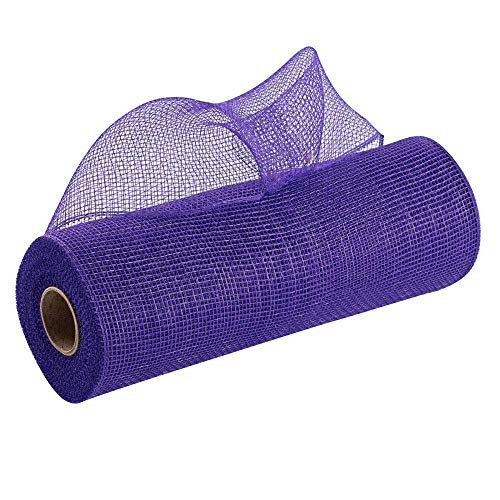 Purple Deco Mesh Wreath Decor - 10' x 10 Yards, Healthcare Workers Support Ribbon, Decorative Ribbon Roll, Mardi Gras, Carnival, Fat Tuesday, Easter, Swag, Tree Topper, Bows, Gifts, Garlands, Presents