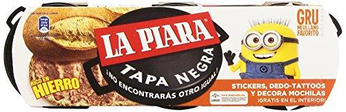 La Piara Tapa Negra Paté de Hígado de Cerdo -Pack de 3 x 75 g - Total: 225 g