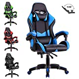 Advwin Executive Office Computer Gaming Chair Racer Recliner Chair Racing Seating Blue