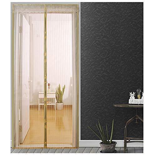Hochwertige Sommer-Anti-Mücken-Vorhänge Magnetische Tüllvorhänge schließen automatisch die Türgitter-Küchenvorhang-Netztür in verschiedenen Größen A5 B80xH210