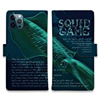 AnglersLife 手帳型 iPhone アイフォン スマホケース マグネット付 カード収納 SQUID GAME iPhone11