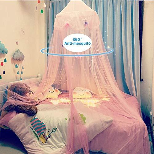 ACMEDE Moskitonetze Insektenschutz Babybett Vorhang Baldachin Betthimmel Moskitonetz abweisend Insekten Kinder Prinzessin Zelte Schutz Dekoration Bettzubehör für Kinderzimmer oder 1.2m 1.5m 1.8m Bett