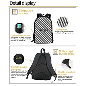 51E oorB+IL. SS300  - Woisttop Anime Dragon Ball Z Interface Mochila Escolar de Gran Capacidad para Estudiantes universitarios, Mujeres, Adolescentes y niños Dragon Ball-13 44x28x13cm
