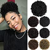 Afro Puff Drawstring Ponytail Hair Bun Extension Hair pieces for Black Women Synthetic Updo Short Kinky Curly Hair Ponytail Natural Black