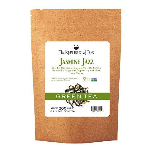 The Republic of Tea Jasmine Jazz Green Full-Leaf Loose Tea | 1 Pound Bulk Bag | Steeps 200 Cups
