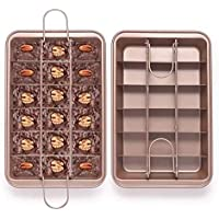 EKKONG Moldes para Brownies, Molde para Tartas con separadores de 18 bandejas, Molde Pastel Pan Hornear Molde Herramienta para hornear Cocina Herramienta de la torta Accesorios de cocina