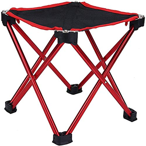 PBTRM Klappbarer Sitzhocker,Camping Klapphocker Tragbarer Outdoor Fauler Stool Für Camping Angeln Reisen Wandern Strand,Rot