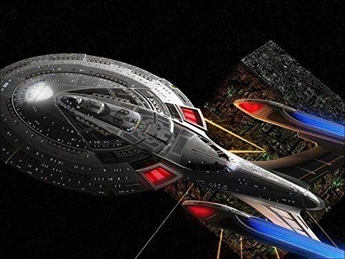 BOIPEEI Pintura de diamante 5D Taladro completo Star Trek Movie Show A Diy Kits de pintura de diamante Diamante de imitación Dibujo de cristal Regalo para adultos Niños Mosaico Hacer pintura artística